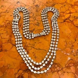 "Eisenberg Ice 21"" rhinestone necklace"